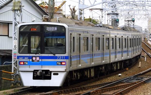 北総7300形7318F 普通KK17羽田空港(1326N)