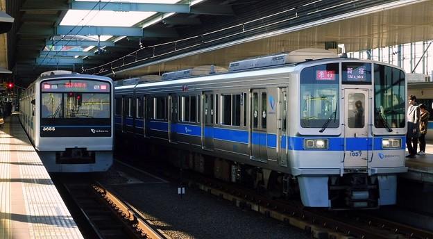 急行OH01新宿(1200レ)1000形1057F-3000形3263F&各停OH34本厚木(6553レ)3000形3655F