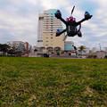 写真: トイドローン離陸!