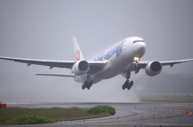 写真: JA741A 離陸-4