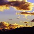 Photos: 山と雲と夕焼けと。