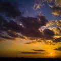 写真: 夕焼け空