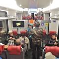 ユングフラウ鉄道の車内