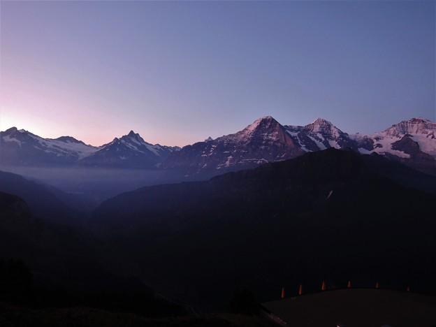 Photos: 夜明けのユングフラウ