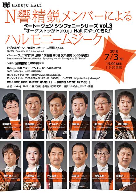 N響精鋭メンバーによるハルモニームジーク 2018 in 白寿ホール
