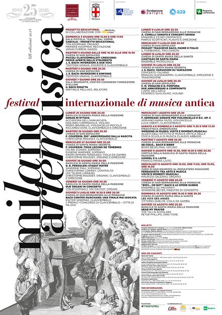 """Milano Arte Musica 2018 """" Festival Internazionale di Musica Antica """""""