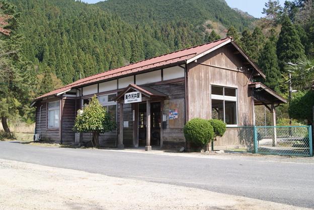 美作河井駅  (3)