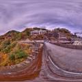 井川ダム 紅葉 360度パノラマ写真(2) HDR