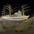 2016年4月30日 清水港日の出埠頭 日本丸 ライトアップ 360度パノラマ写真(2) HDR