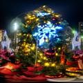 青葉シンボルロードのクリスマスツリー 360度パノラマ写真