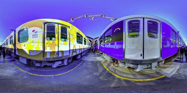 静鉄長沼車庫 新型車両の新色追加に伴う撮影会 360度パノラマ写真(2)