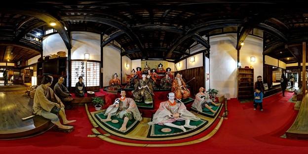 岡部町 大旅籠柏屋 等身大ひな人形 360度パノラマ写真