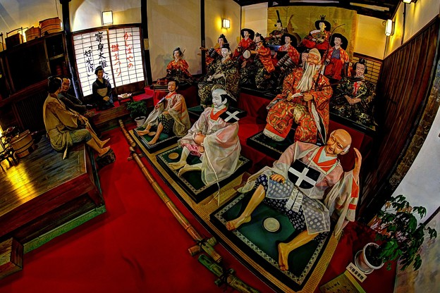 岡部町 大旅籠柏屋 等身大ひな人形 (3)