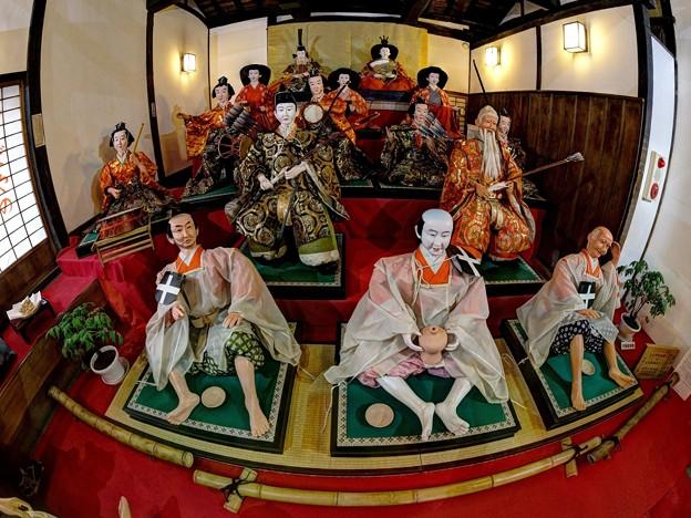 岡部町 大旅籠柏屋 等身大ひな人形 (2)
