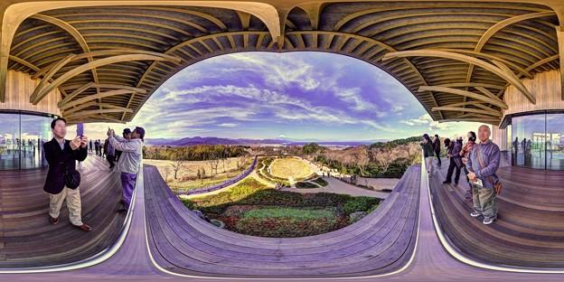 日本平 夢テラス 3階展望フロア 360度パノラマ写真