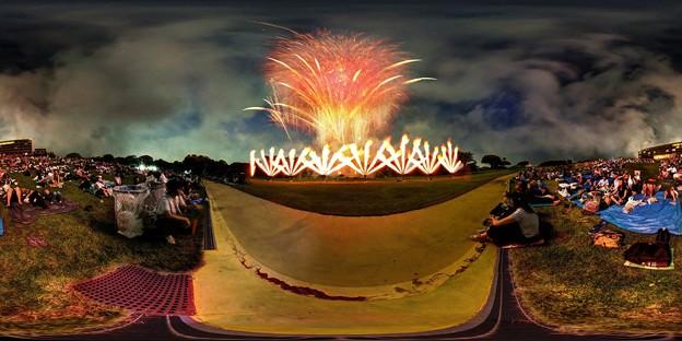 日本平まつり 花火大会 360度パノラマ写真(2)