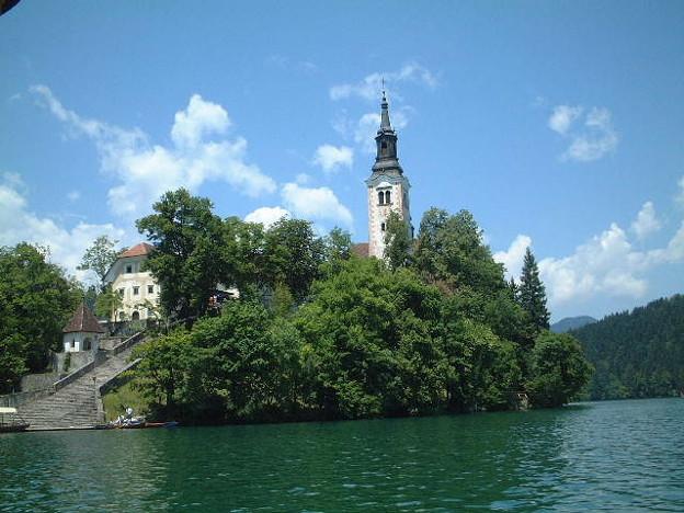 スロベニア・ブレッド湖にて2