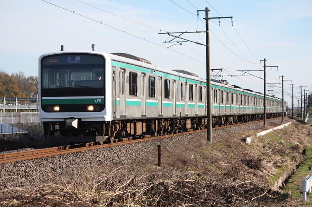 常磐線 E501系K703編成 534M 普通土浦行