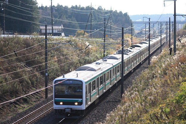 常磐線 E501系K701編成「シングルアームパンタグラフ」 551M 普通いわき行