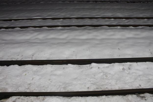 積雪の線路