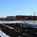 積雪の中を行くEH500