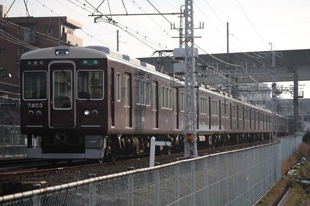 阪急京都線 7300系7303F 準急 河原町 行