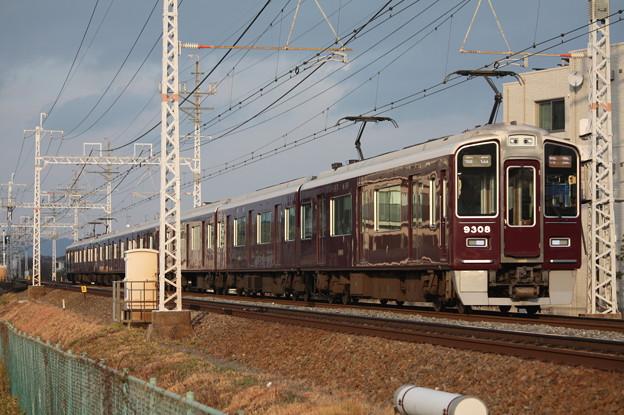 阪急京都線 9300系9308F 特急 阪急梅田 行