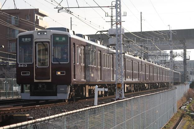 阪急京都線 8300系8313F 準急 河原町 行