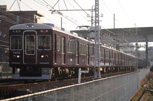 阪急京都線 7300系7322F 特急 河原町 行