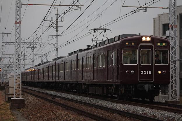 阪急京都線 3300系3318F 準急 阪急梅田 行