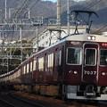 阪急神戸線 7000系7037F 通勤特急 阪急梅田 行