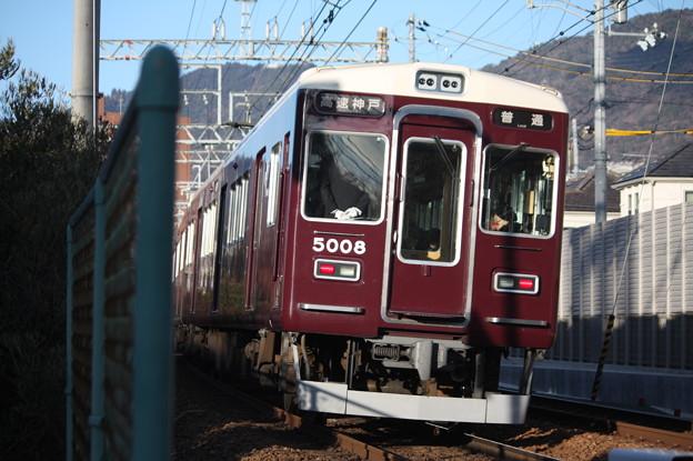 阪急神戸線 5000系5008F 普通 高速神戸 行