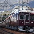 阪急神戸線 7000系7036F 通勤特急 阪急梅田 行