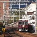 阪急神戸線 7000系7022F 通勤特急 阪急梅田 行