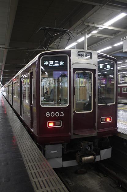 阪急神戸線 8000系8003F 普通 神戸三宮 行