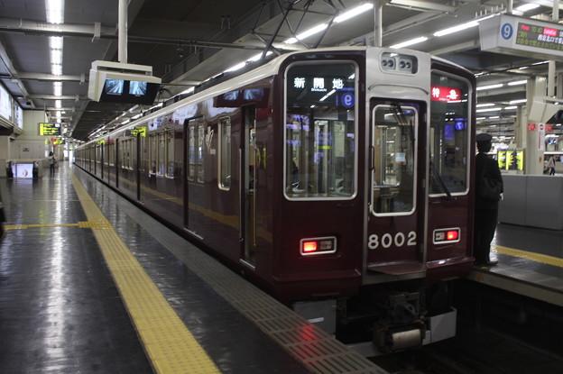 阪急神戸線 8000系8002F 特急 新開地 行