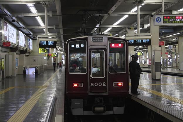 阪急神戸線 8000系8002F 特急 新開地 行 (1)