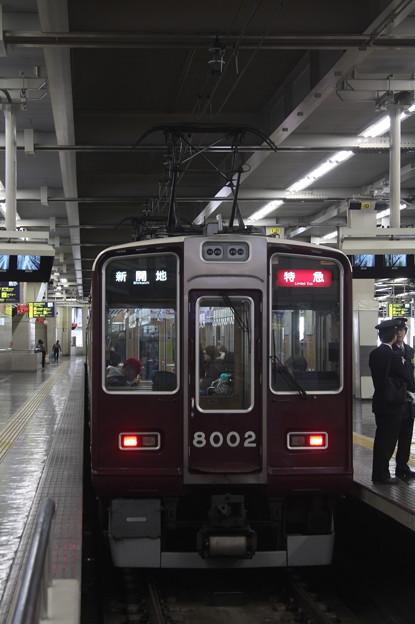 阪急神戸線 8000系8002F 特急 新開地 行 (2)