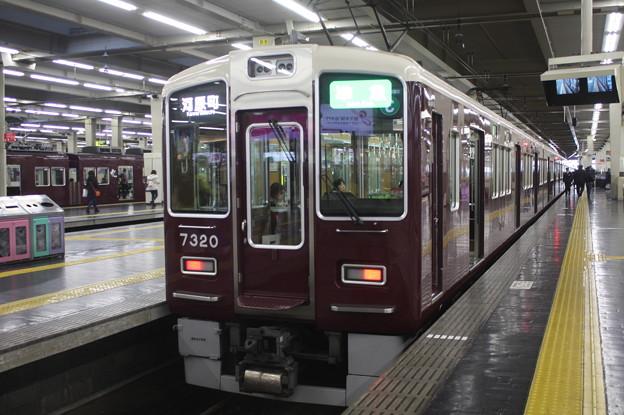 阪急京都線 7300系7320F 準急 河原町 行 (2)