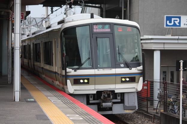 関西線 221系NA404編成 快速 高田 行