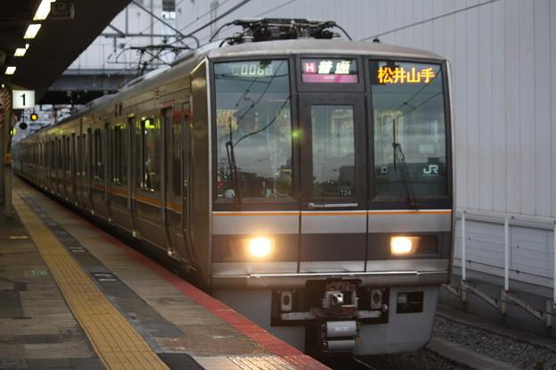 片町線 207系2000番台T24編成 普通 松井山手 行