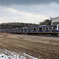 冬の田園風景を行く水戸線E531系3000番台 (2)