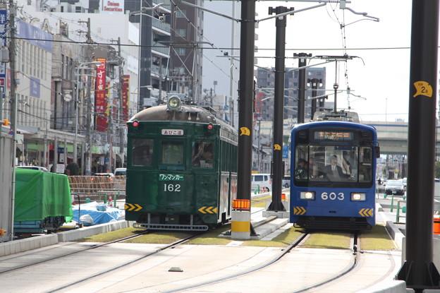 阪堺電気軌道 モ161形162・モ601形603