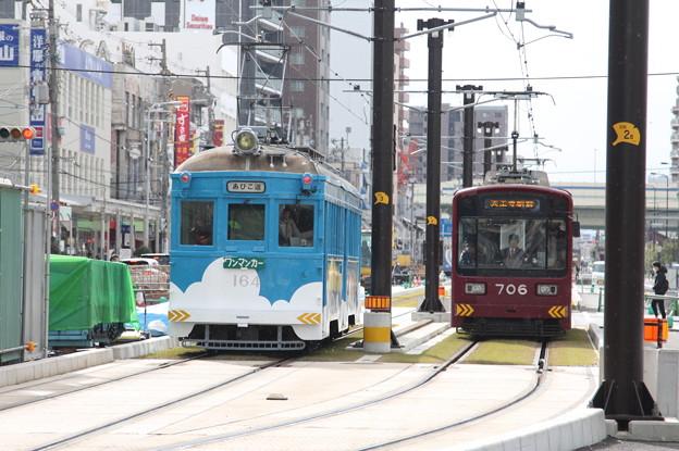 阪堺電気軌道 モ161形164・モ701形706