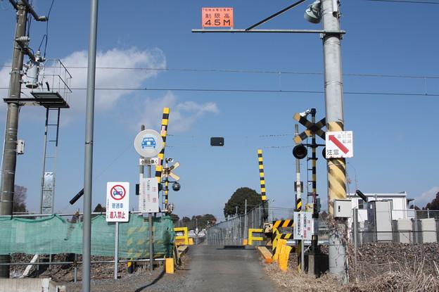 常磐線 原坪踏切 上り (1)
