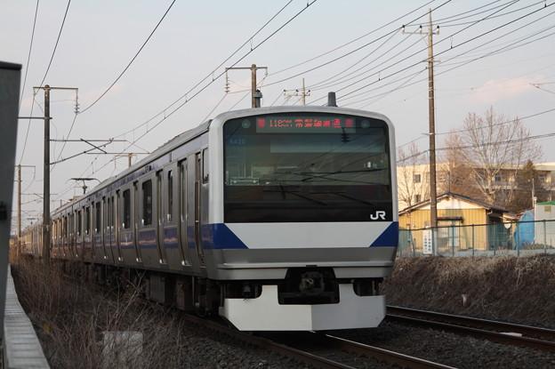 常磐線 E531系K420編成 1189M 普通 勝田 行