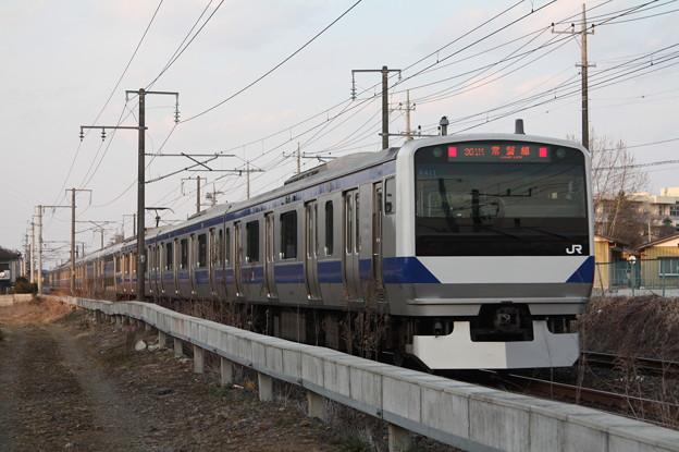 常磐線 E531系K411編成 391M 普通 水戸 行