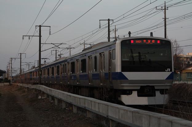 常磐線 E531系K415編成 395M 普通 勝田 行