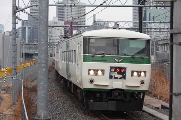 品川駅12番線に到着する185系B2編成踊り子 (2)