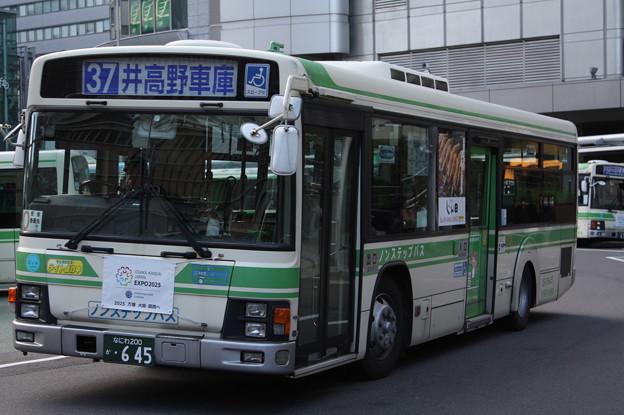 大阪市営バス 15-0645号車 37系統 井高野車庫 行